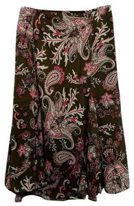 Dress Barn Skirt Pink Brown