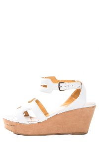 Hermès White Wedges