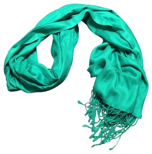Other Cashmere Large Green Scarf