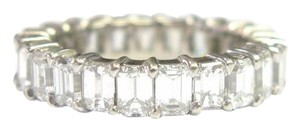 Other Fine Emerald Cut Diamond Shared Prong Eternity Band Ring White Gold 5.
