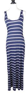 blue Maxi Dress by Michael Stars Maxi Striped Sleeveless
