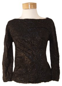 Nicole Miller Silver Sparkle Top Black