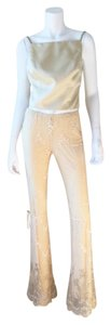 A.B.S. by Allen Schwartz Flare Pants Yellow Gold