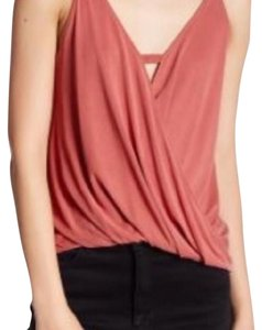 Lush Draped Red Sleeveless Top Mineral Red
