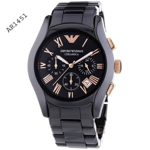 Emporio Armani Ceramica Chronograph Black Dial Men's Watch