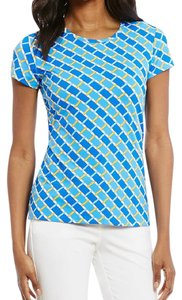 J.McLaughlin T Shirt blue white