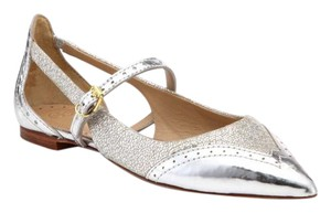 Tory Burch Silver Metallic Flats