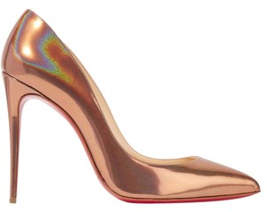 Christian Louboutin Pigalle Follies Metallic 100mm bronze Pumps
