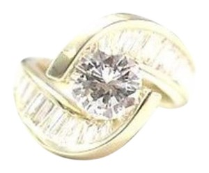 Other Fine ByPass Engagement Diamond Yellow Gold Ring 3.38Ct