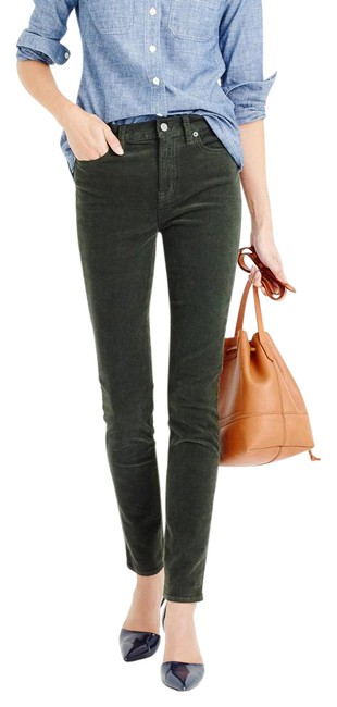 Item - Green Medium Wash The Lookout High Rise Corduroy In Dark Forest Skinny Jeans Size 29 (6, M)