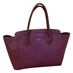 Furla Satchel in Burgundy/Wine