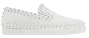 Christian Louboutin Pik Boat Scalloped Embossed Sneakers white Athletic
