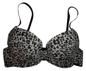 Sears New Leopard Print Smooth Molded Cup Push Up Bra SIZE 34B