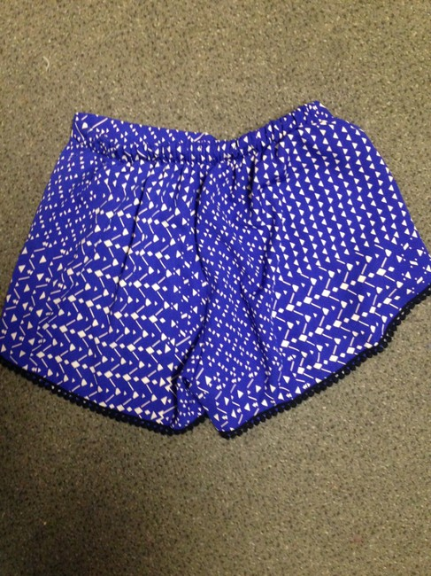 Other Mini/Short Shorts Blue Patterned