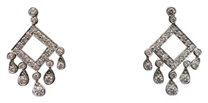 Tiffany & Co. Tiffany & Co Platinum Legacy Open Square Diamond Drop Earrings 1.33CT