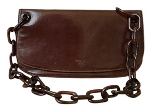 Prada Leather Flap Shoulder Bag