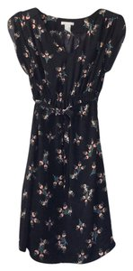 Mama (thru H&M) short dress black with floral design on Tradesy