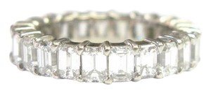 Other Fine Emerald Cut Diamond Shared Prong Eternity Band Ring WG 5.00CT Sz5