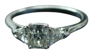 Tiffany & Co. Tiffany & Co PLAT Lucida & Trillion Cut Diamond Engagement Ring .55Ct/