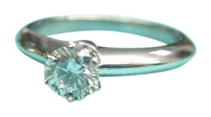 Tiffany & Co. Tiffany & Co Platinum Round Diamond Solitaire Engagement Ring D-VS2 .7
