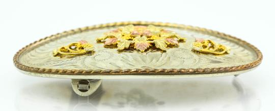Comstock * Collectible Comstock German Silver / Multi Color Gold Accents Buckle Image 2