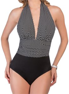 Miraclesuit MAGICSUIT Black Yves Spot On Halter Tummy Control Swimsuit 16