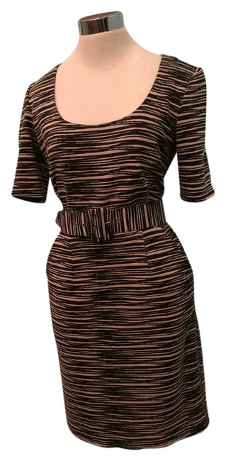 Preload https://img-static.tradesy.com/item/20974177/trina-turk-black-brown-34-sleeve-print-matching-belt-mid-length-workoffice-dress-size-4-s-0-1-650-650.jpg