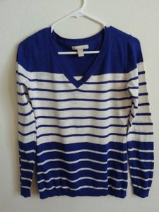 Banana Republic Striped V-neck Sweater