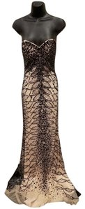 Vienna Prom Strapless Beaded Fitted Crystals Sequin Dress
