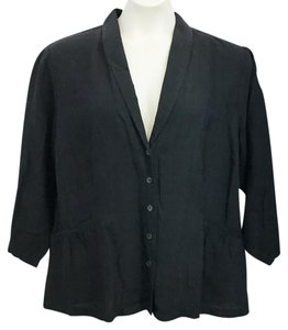 Eileen Fisher Black Plus-size Top