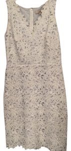 Ann Taylor LOFT Lace Floral V-neck Sleeveless Dress