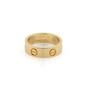 Cartier Cartier Love 18k Yellow Gold 5.5mm Wide Band Ring Size EU 51- US 5.5