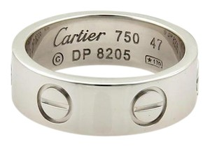 Cartier Cartier Love 18k White Gold 5.5mm Band Ring Size EU 47 - US 4