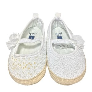 Carter's Espadrille Spring Summer Lace WHITE/ TAN Flats