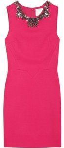 3.1 Phillip Lim Hot Pink Embellished Silk Dress