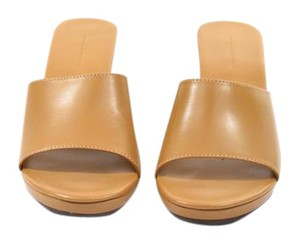 Banana Republic Leather Platform Wedge Copper Mules