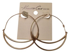 Kenneth Cole KENNETH COLE GOLD TONE HOOP EARRINGS NWT $32