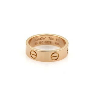 Cartier Cartier Love 18k Rose Gold 5.5mm Wide Band Ring Size EU 52-US 6