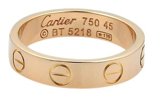 Cartier Cartier Mini Love 18k Rose Gold 3.5mm Band Ring Size EU 45-US 3.25