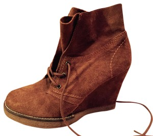 Dune London Edgy Hipster Skinny Suede Brown Boots