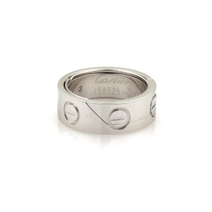 Cartier Cartier Secret Astro Love 18k White Gold Band Ring Size EU 51 - US 5.5
