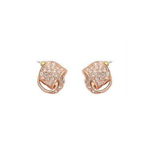 LoveBrightJewelry Rose Gold Vermeil Bridal Wedding Stud Earrings Women
