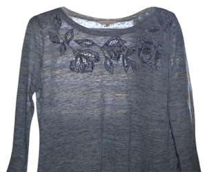 Rebecca Taylor Lovely Comfortable T Shirt Grey with Blue and lavender accents