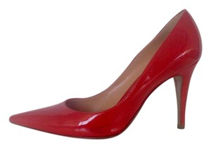 Sergio Rossi Patent Leather Pointed-toe Red Pumps