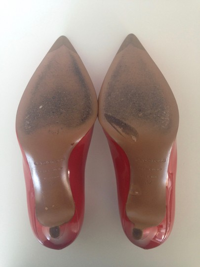 Sergio Rossi Patent Leather Pointed-toe Red Pumps Image 10
