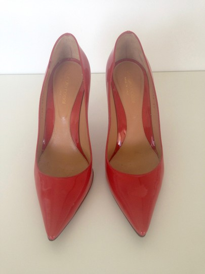 Sergio Rossi Patent Leather Pointed-toe Red Pumps Image 4