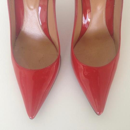 Sergio Rossi Patent Leather Pointed-toe Red Pumps Image 5