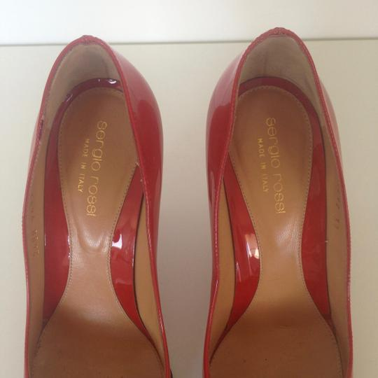 Sergio Rossi Patent Leather Pointed-toe Red Pumps Image 6