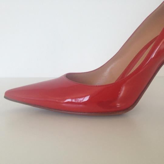 Sergio Rossi Patent Leather Pointed-toe Red Pumps Image 8
