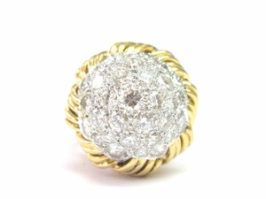 Francesca's FRANCE 18Kt Diamond Cocktail Jewelry Ring Yellow Gold 5.02CT